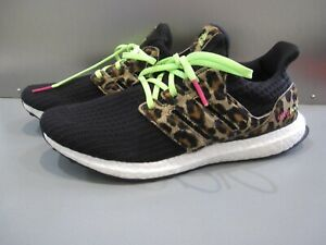 adidas UltraBOOST DNA Animal Pack Leopard Black White Men's Running Shoes US 9