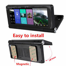"Car DVR WiFi Android FM ADAS GPS Navigation 7"" Touch Screen Split View Dual Cam"