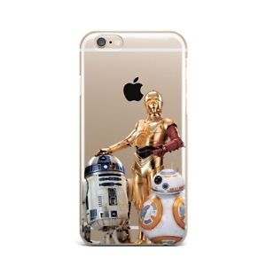 Star Wars R2D2 Ultra Thin Rubber Gel Silicone Case For Apple iPhone 6 7 Plus X
