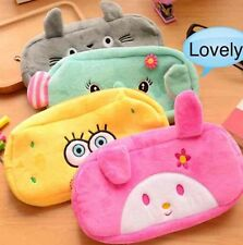 4 Pieces!!!!! Soft Cute Plush Cosmetic Makeup Storage Bag Pen Pencil Case Pouch