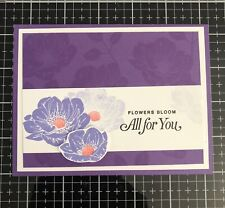 """Card Kit Set Of 4 Stampin Up Floral Essence Purple """"All For You"""""""