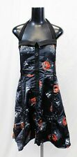 Rose Gal Women's Plus Halter Neck Halloween Dress BF5 Black Size 2X/US:18 NWT