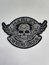 Harley Davidson Owners Patch Aufnäher Skull Biker Motorrad  Set Aufbügler Groß
