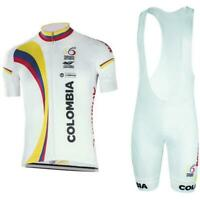 Colombia Cycling Jersey Bib Short Kit