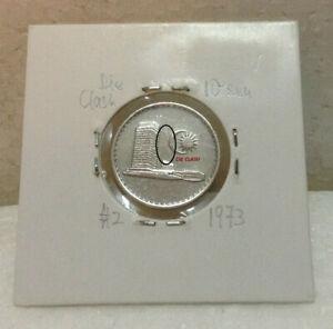 MALAYSIA 10sen coin 1973  ERROR DIE CLASH  Parliament Series #2
