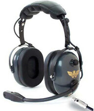 Avcomm AC-747 General Aviation / Helicopter Combo Headset with Flex Boom