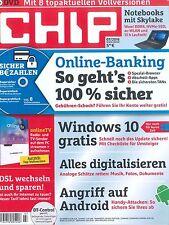 CHIP mit DVD, Heft Juli 07/2016: Online-Banking 100 % sicher +++ wie neu +++