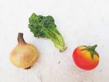 3x VEGETABLE ONION CELERY TOMATO 3D MAGNET FRIDGE RESIN MEMO HOLDER GIFT KITCHEN