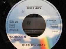 ++KEITH SYKES i don't hurt to flirt/in between lies SP PROMO 1981 MCA EX++