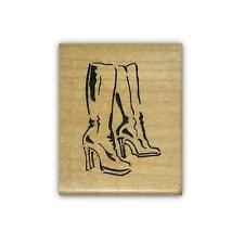 Boots, mounted rubber stamp, ladies fashion #5
