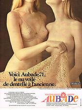 PUBLICITE  1970   AUBADE  soutien gorge modèle NU VOILE