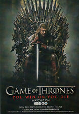 Game of Thrones Promo Card - SDCC 2011 - Ned Stark on the Iron Throne