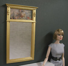 1:6  scale ~  TRUMEAU  MIRROR ~ For  BARBIE ~ Action Figure ~ Playscale ~ Floral