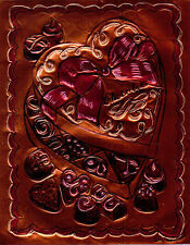 """VALENTINE'S DAY CHOCOLATE"" BY Ruth Freeman  ETCHED COPPER FOIL 8"" X 10"""