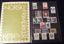 Vintage 1979 Norwegian 17 Stamp Set 'Norske Frimerker 1979' in Booklet kr 30.95