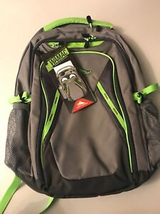 High Sierra Back Pack Green/Lime Large Capacity, Multi Compartments NWT