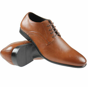 MENS LACE UP FORMAL WORK OFFICE SHOES CASUAL WEDDING PARTY SMART ITALIAN SHOES
