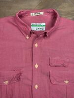 Orvis Mens Button Shirt Buzz Off Insect Repellent Shield Short Sleeves Large