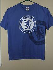 Soccer Youth Large LG Chelsea Football Club Blue T Shirt Jersey Logo Futbol