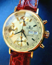 Meister Anker by Glashütte Valjoux 7750 Yellowgold 18C 750 Automatic Chronograph