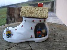 NUOVO Reutter Porzellan Germany scarpa bottega topolini in porcellana miniatura