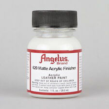 ANGELUS acrilica Pelle Vernice Opaca FINISHER 1oz BOTTIGLIA FACTORY FINISH SIGILLANTE