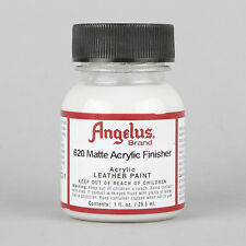 Angelus Acrylic Leather Paint MATTE Finisher 1oz Bottle Factory Finish Sealer
