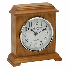 Deluxe Carriage Design Wooden Mantel Clock with Arabic Numbers