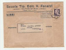 STORIA POSTALE 1936 REGNO PIEGO DI LIBRO C. 7 1/2 SU BUSTA CAPODISTRIA Z/1023