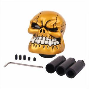 Gold Skull Head Universal Car Truck Manual Stick Gear Shift Knob Lever Shifter
