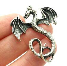 Dragon 3D Design Fine Sterling Silver 925 Pendant 9g DD171