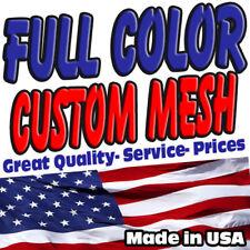 Full Custom MESH Banners $0.99 per sq/ft High Quality FREE SHIPPING