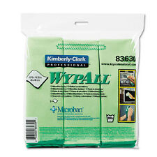 WypAll* Cloths w/Microban Microfiber 15 3/4 x 15 3/4 Green 24/Carton 83630CT