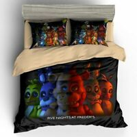 Five Nights at Freddy's FNAF Duvet Cover Bedding Set Single Double Bonnie Foxy
