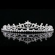Floral Bridal Headpiece Rhinestone Crystal Prom Wedding Tiara V886