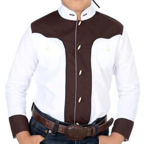 Boys Charro Shirt El General Western Wear Camisa Charra Niño Color White