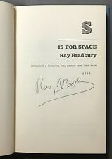 SIGNED First Edition   Ray Bradbury   S is for Space   Doubleday & Co.  1966