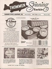 Original 1950 5pgs Thommen Sales Price List Product Flyer Advertisement Fishing