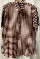 RALPH LAUREN POLO SPORT Men's button down shirt plaid. Short sleeve, size L