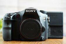 Sony Alpha A77 24.3MP Digital SLR Camera Body SLT-A77V w/Battery/Strap/Charger