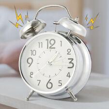Twin Bell Alarm Clocks Vintage Retro Loud Clock Battery Bedside Desk Analogue