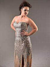 Hollywood Red Carpet Glittery Jewel Formal / Ball Gown - Size 14 - NEW