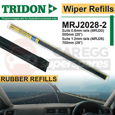 "Combo Pack Pair Tridon Rubber Wiper Blade Refill MRJ2028-2 0.8mm 20"" 1.2mm 28"""