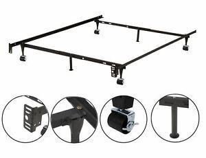 Twin / Twin XL / Full / Full XL / Queen Metal Bed Frame, Black