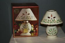Lenox Holiday Candle Tea Light Lamp Holly Berry Design Msrp $60 Nib Mint Cond