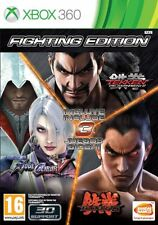 FIGHTING EDITION xbox 360  TEKKEN 6 + TEKKEN TAG TOURNAMENT 2 + SOUL CALIBUR V