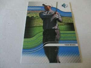 2012 SP Authentic Golf Blue Sapphire Tiger Woods #1 HOF RARE Sharp & Clean