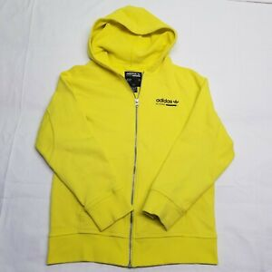 Adidas Purpose Zip Hoodie Sweater   Neon Yellow Youth Large L   Quick Shipping