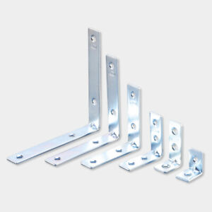 Corner Braces Brackets Right Angle L shape Zinc Plated Brace Bracket UK seller