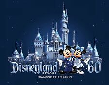 Calif - DISNEYLAND 60 - Diamond Celebration #3 - Travel Souvenir Fridge Magnet